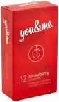 You&Me strawberry condoms 12ks