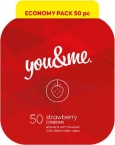 You&Me strawberry condoms 50ks